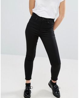 Oki Cropped Skinny High Waisted Jeans