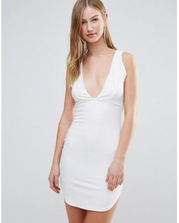 Plunge Front Bodycon Dress