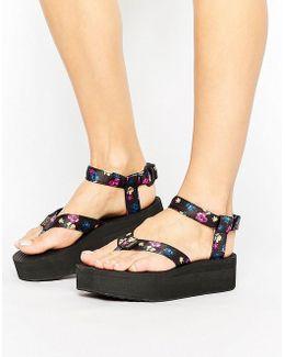 Floral Flatform Sandal