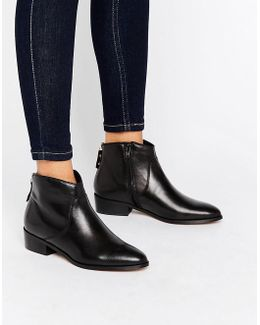 Pearcey Back Zip Low Boots