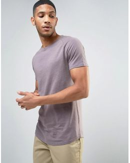T-shirt With Curved Hem