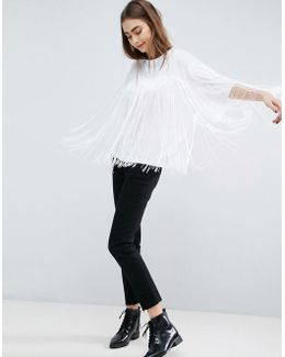 Fringe Detail T-shirt