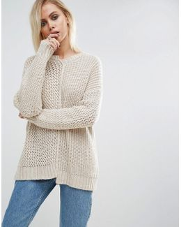 Sweater With Reconstructed Detail