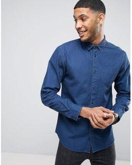 Shirt In Regular Fit Denim Twill