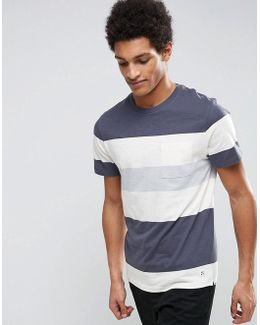 T-shirt With Block Stripe
