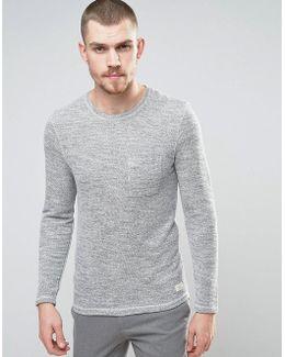 Sweatshirt In Reverse Loopback With Pocket