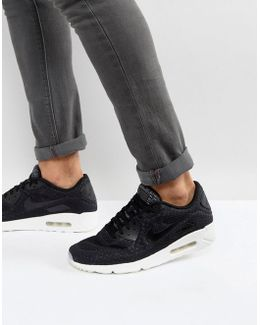 Air Max 90 Ultra Breathe Trainers In Black 898010-001