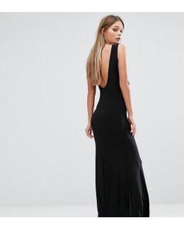Deep Plunge Back Maxi Dress