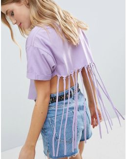Crop Top With Shredded Back