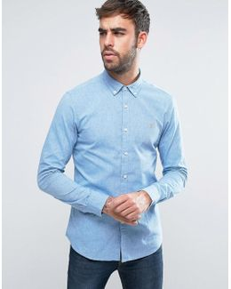 Steen 2 Color Shirt Slim Fit Buttondown Oxford In Blue