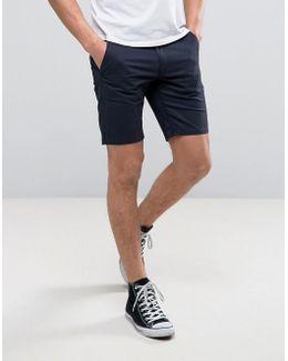 Hawk Straight Chino Shorts In Navy