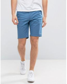 Hawk Straight Chino Shorts In Blue