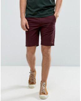 Hawk Straight Chino Shorts In Bordeaux