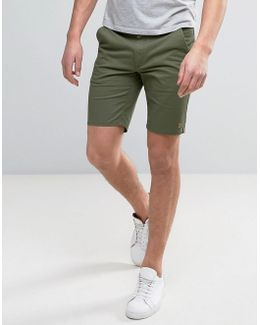 Hawk Straight Chino Shorts In Green