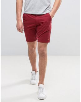 Hawk Straight Chino Shorts In Red