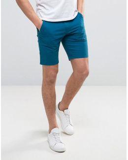Hawk Straight Chino Shorts In Dark Blue