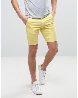 Hawk Straight Chino Shorts In Yellow