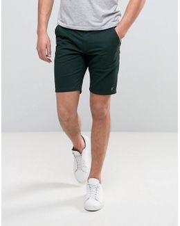 Hawk Straight Chino Shorts In Dark Green