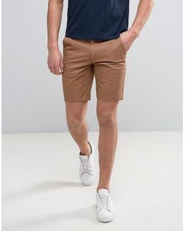 Hawk Straight Chino Shorts In Camel