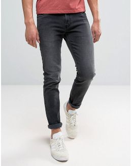 Drake Slim Fit Jeans In Charcoal