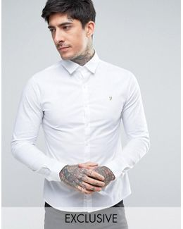 Stretch Skinny Fit Poplin Shirt Exclusive In White
