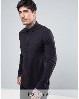 Pique Jersey Shirt Exclusive In Black