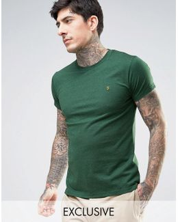 Twisted Yarn Marl T-shirt Exclusive In Green