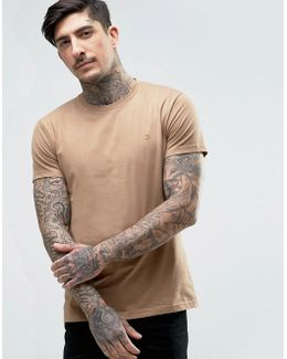 Farris Slim Fit Logo T-shirt Brown