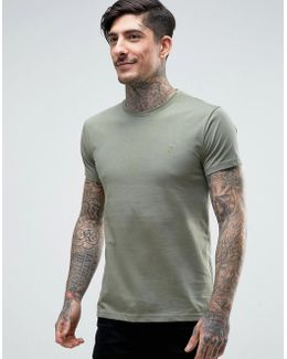 Farris Slim Fit Logo T-shirt Green