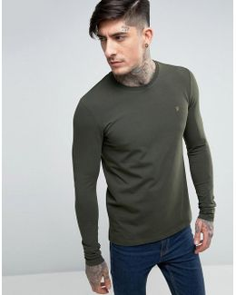 Southall Super Slim Muscle Fit Long Sleeve T-shirt Green