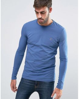Southall Super Slim Muscle Fit Long Sleeve T-shirt Blue
