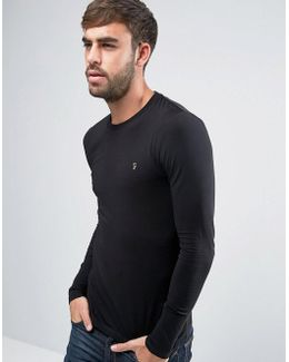 Southall Super Slim Muscle Fit Long Sleeve T-shirt Black