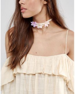 Spring Flower Choker Necklace