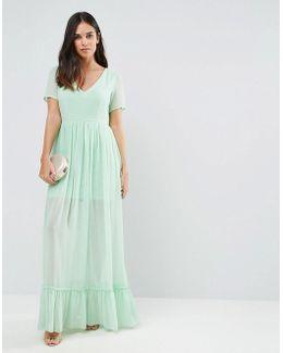 Maxi Dress With Frill Hem