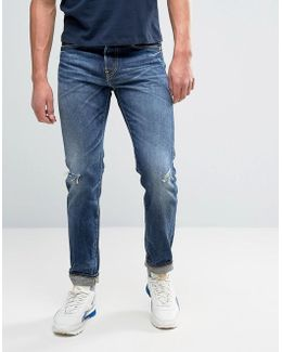 Ed-80 Slim Tapered Jean Unwashed Rainbow Selvedge