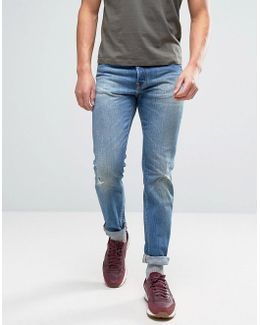 Ed-80 Slim Tapered Jeans Average Wash Abraisions