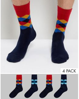 Socks 4 Pack Argyle