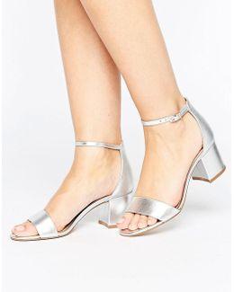 Villarosa Leather Block Heel Sandals