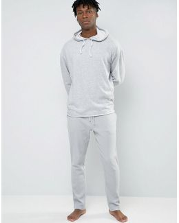Joggers With Cuffed Ankle In Slim Fit Waffle