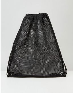 Drawstring Backpack In Mesh