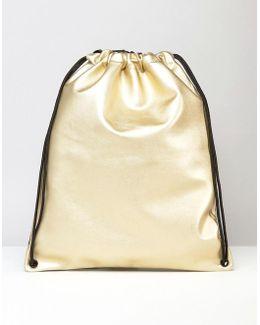 Drawstring Bag In Gold