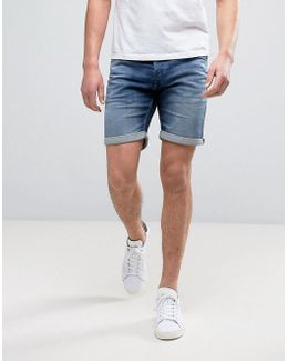 Intelligence Denim Shorts In Regular Fit With Rolled Hem