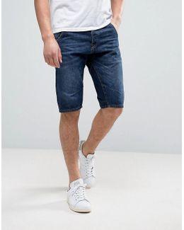 Intelligence Denim Shorts In Engineered Fit