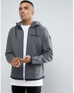 Neoprene Zipthru Hoodie Regular Fit In Grey
