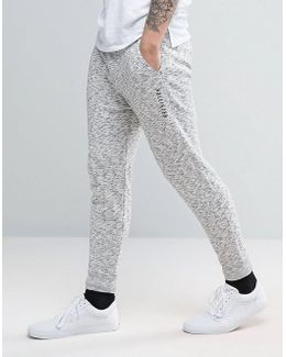 Cuffed Sweat Pants In Light Grey