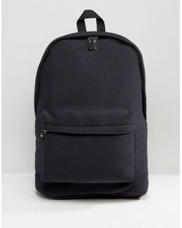Backpack In Navy Jersey
