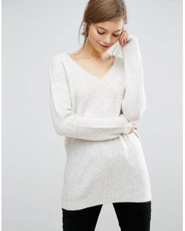 Lounge Sweater With V Neck
