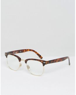 Retro Glasses With Clear Lens