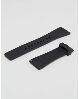 Dylan Silicone Strap In Black