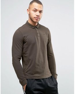 Long Sleeve Pique Polo Regular Fit